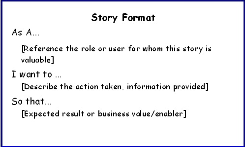 Agile in a Flash Story Format
