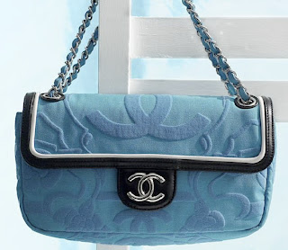 6b471e625340 Chanel flap bag in canvas with leather piping and Art Deco pattern inspired  by the Miami Fashion Show A46104 Y05220 00606