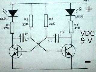 RANGKAIAN LAMPU FLIPFLOP  Gambar Skema Rangkaian Elektronika