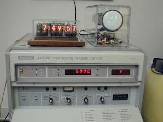 Reloj atómico de hidrógeno Active Hydrogen Maser