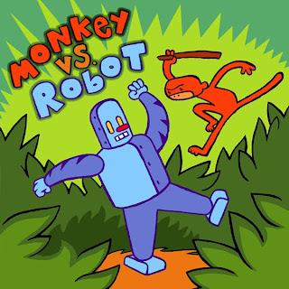 Review Monkey Versus Robot James Kochalka Top Shelf Productions Cover original graphic novel ogn trade paperback tpb