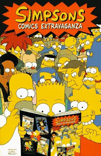 Review Simpsons Comics Extravaganza Matt Groening Steve Vance Cindy Vance Bill Morrison Dan Castellaneta Deb Lacusta Tim Bavington Sondra Roy Phil Ortiz Homer Simpson Bart Simpson Lisa Simpson Marge Simpson Bongo Comics Cover trade paperback tpb comic book