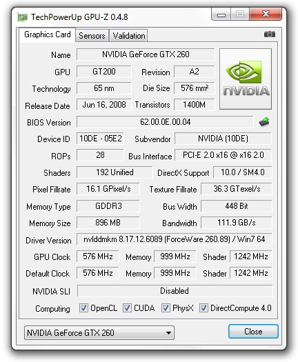 TechPowerUp GPU-Z v0.4.8 with GTX 580 GT 420 and GT 440