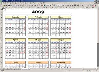 Calendario Presenze Excel.Calendario Annuale Con Excel