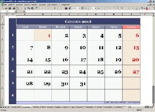 Calendario Presenze Excel.Calendario Perpetuo Con Excel