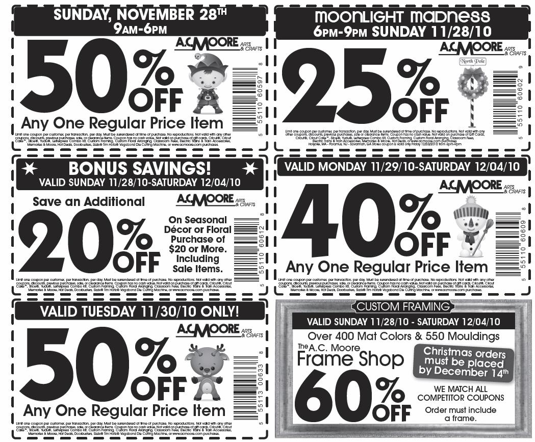 image regarding Ac Moore Printable Coupon Blogspot referred to as Printable coupon for ac moore arts and crafts / Portland