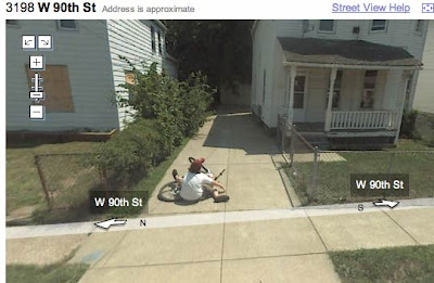 This Kid Managed Just That By Falling Off His Bike For Google Earth Street  View. His Grandkids Will Ribb Him About This Little Slip.