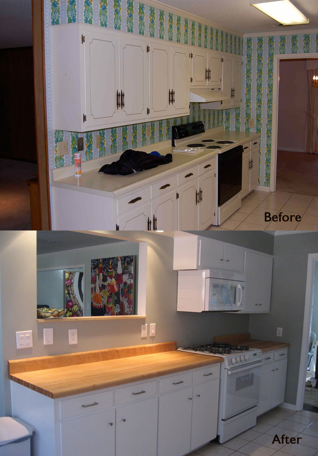 Kitchen Facelift Before And After Lighting Home Depot Taylor Custom Furniture