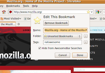 Prevent Websites From Appearing In The Firefox Address Bar/Awesome Bar