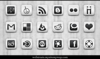 53  620x620 01 free matte white square social networking icons webtreats preview 75 Beautiful Free Social Bookmarking Icon Sets