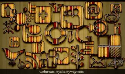 118  608x608 01 free retro grunge stripes social bookmarking icons webtreats preview 75 Beautiful Free Social Bookmarking Icon Sets