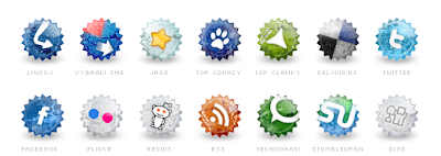 Set of social grunge icons by Tydlinka 75 Beautiful Free Social Bookmarking Icon Sets
