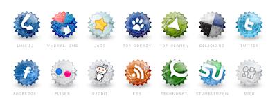 Set of social grunge icons by Tydlinka 75 Beautiful Free Social Bookmarking Icon Sets