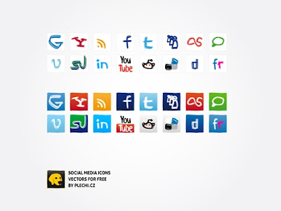Social media icons by plechi 75 Beautiful Free Social Bookmarking Icon Sets