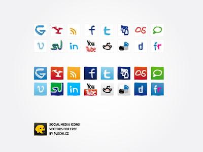 Social media icons by plechi 75 Beautiful Free Social Bookmarking Icon Sets