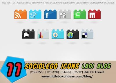 sociolego social bookmarking icons 75 Beautiful Free Social Bookmarking Icon Sets