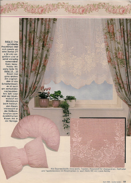 Lo spazio di lilla tendina a filet con rose for Burda uncinetto