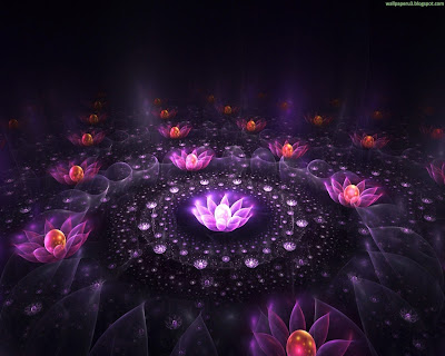 3D Flowers Standard Resolution Wallpaper 3