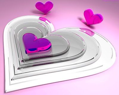 Pink Heart Standard Resolution HD Wallpaper