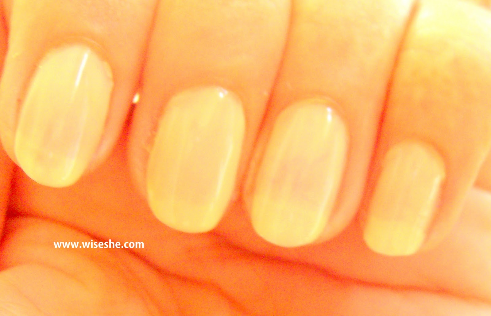 Step 1 I Applied A Transparent Base Coat On My Nails And Then Maybelline Colorama Arena Which Is Nude Colour