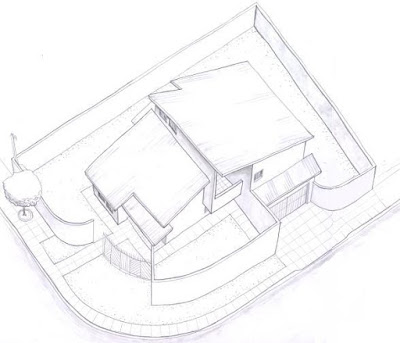 A primeira perspectiva do projeto previa um desenho diferente para os muros, cujo perímetro concedia certa permeabilidade entre espaços públicos e privados. Porém, em nome de maior sensação de segurança, os construtores adotaram uma solução mais convencional.