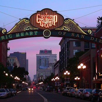 Margy's Musings: Gas - Lamp Light District - San Diego, CA