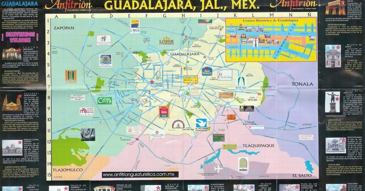 Backpackers Mexico Mapa De Guadalajara