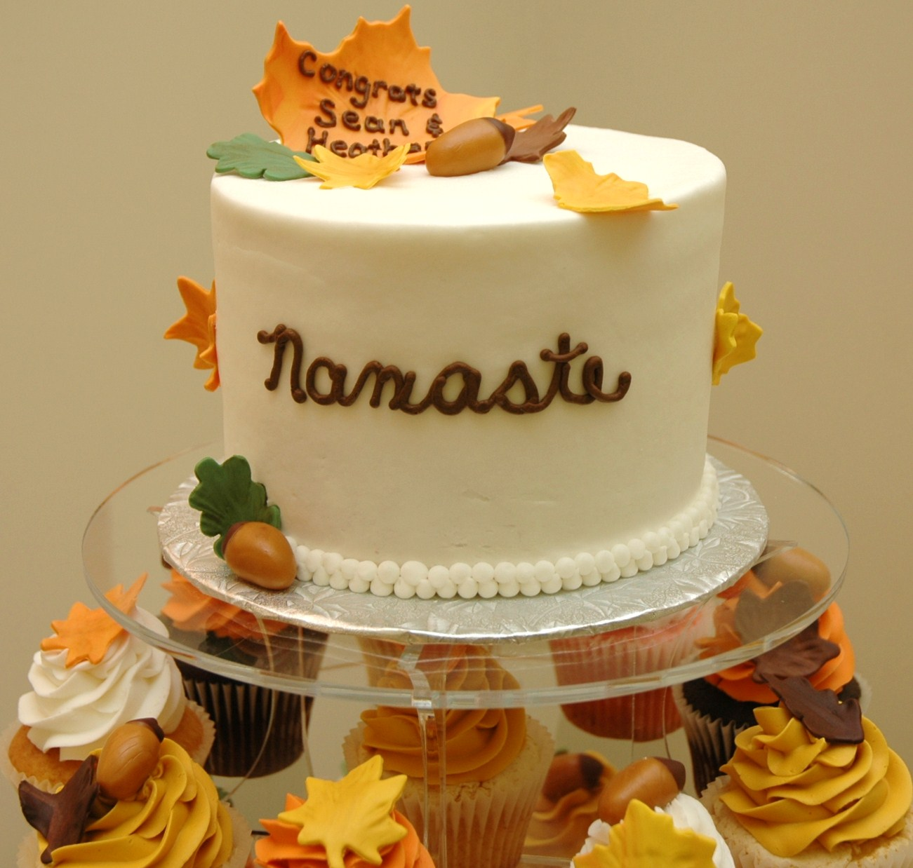 fall wedding cakes with cupcakes tara s cupcakes autumn wedding cake and cupcake tower 14171