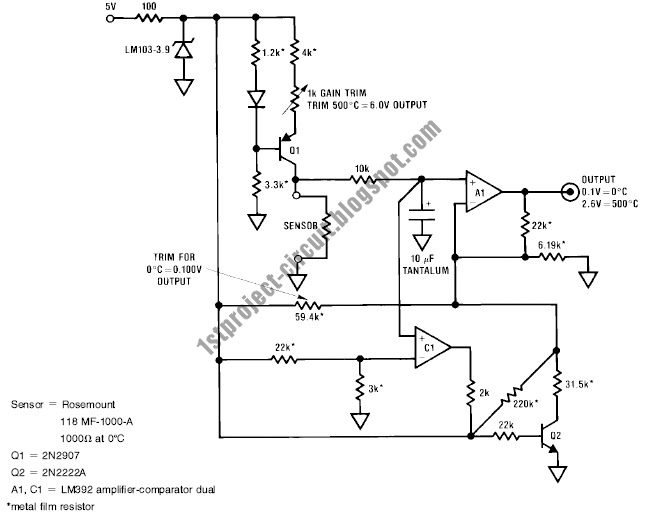 Project Circuit Design: Linear Platinum RTD Thermometer