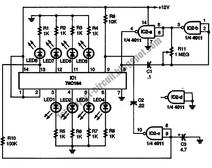 Project Circuit Design: Car LED Light Sequencer Circuit