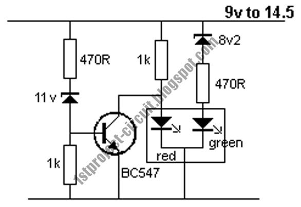 single transistor lead acid battery monitor