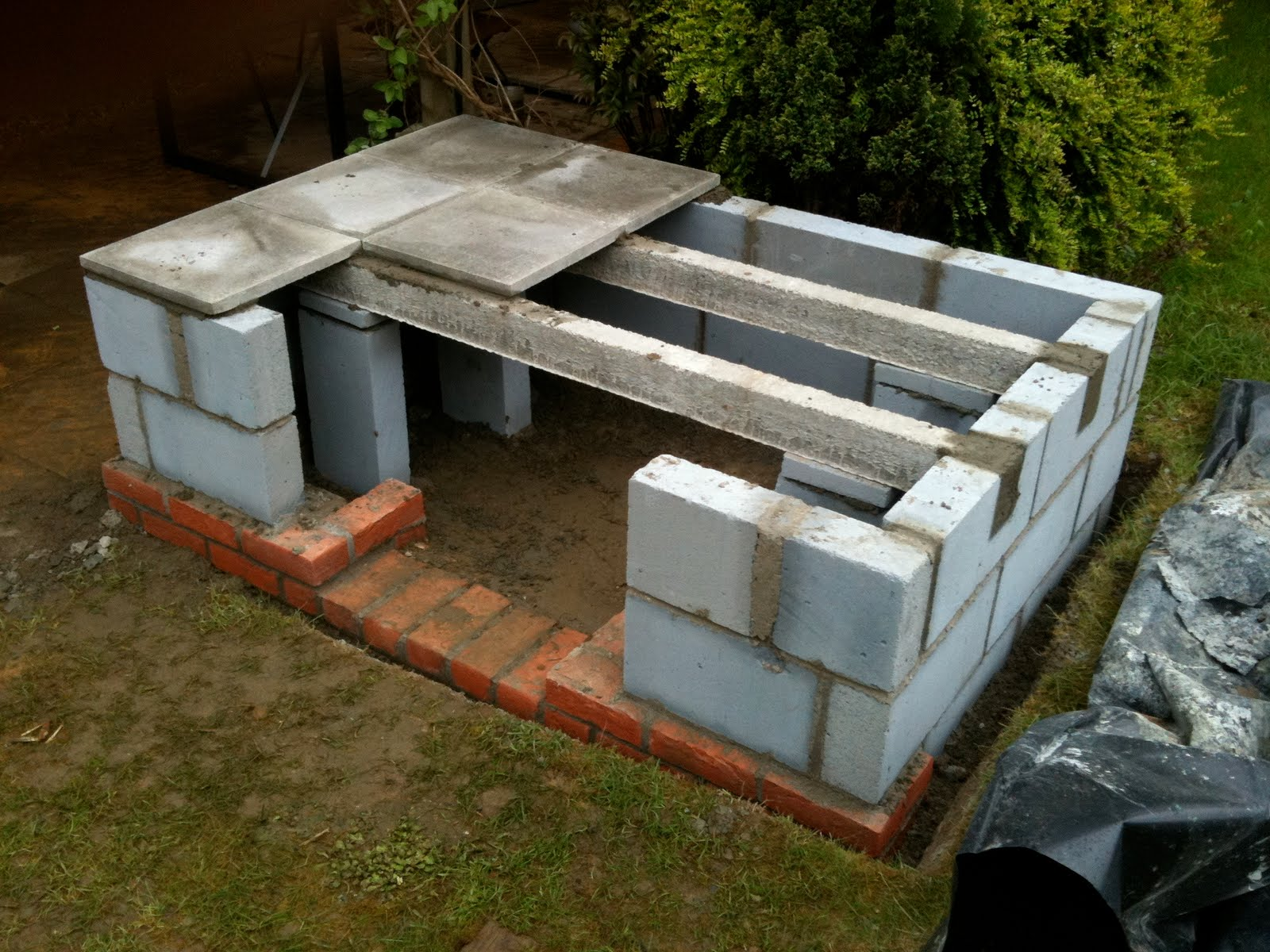 Cinder Block Chimney Construction