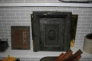 I Was In Shock A Wooden Shelf Top From 70 S Style Desk With Detailed Spindles And Cast Iron Fireplace Summer Cover Perfect