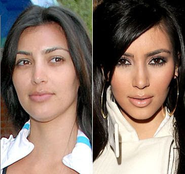 Celebrities+Without+Wearing+Makeup+kim+kardashian