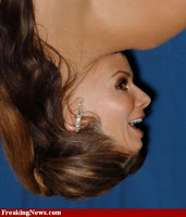 Sandra Bullock funny+face+up+side+down