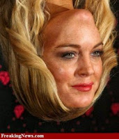 Lindsay Lohan+funny+face+up+side+down