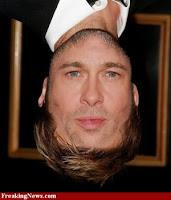 Brat Pitt face+upside down