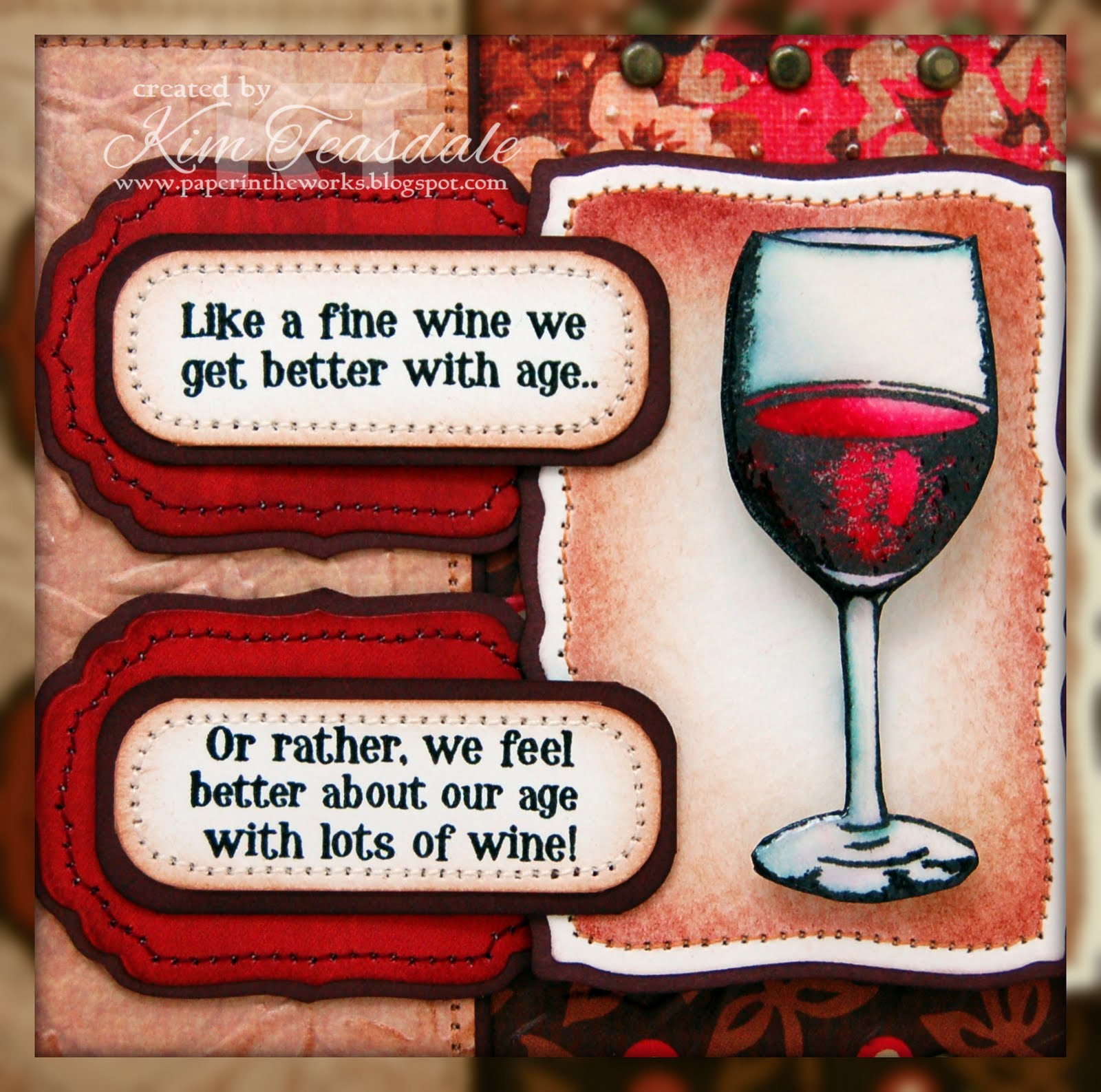 Paper In The Works: Aging Is Like Fine Wine