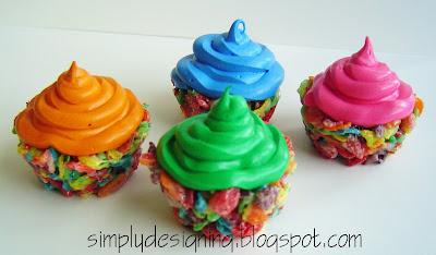 cupcakes Fruity Pebbles Cupcakes 5