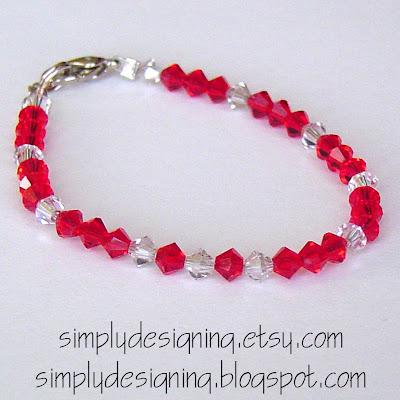 Red+Princess Christmas Bracelet 5