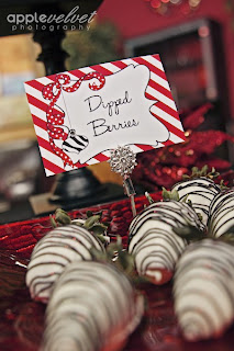 dipped+berries Ornament Exchange Party - FREE Invitation and a Banner GIVEAWAY! 14