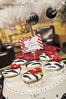 zebra+cupcakes Ornament Exchange Party - FREE Invitation and a Banner GIVEAWAY! 17
