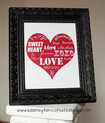 frame Valentine's Day Subway Art FREE Printables 18