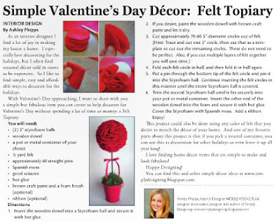 Current+02 01 2011+Article Simple Valentine's Day Décor: Felt Topiary 15