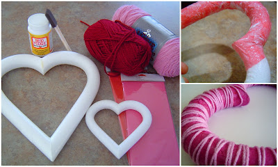 Heart+Collage Tissue Paper and Yarn Heart 10