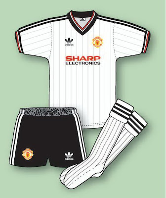 09533cafd90 Manchester United Football Shirt History  Manchester United Kit 1982 ...
