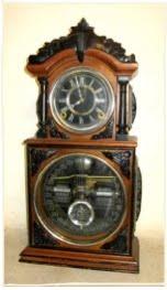 Ithaca Double Dial     3 1/2 Calendar Clock