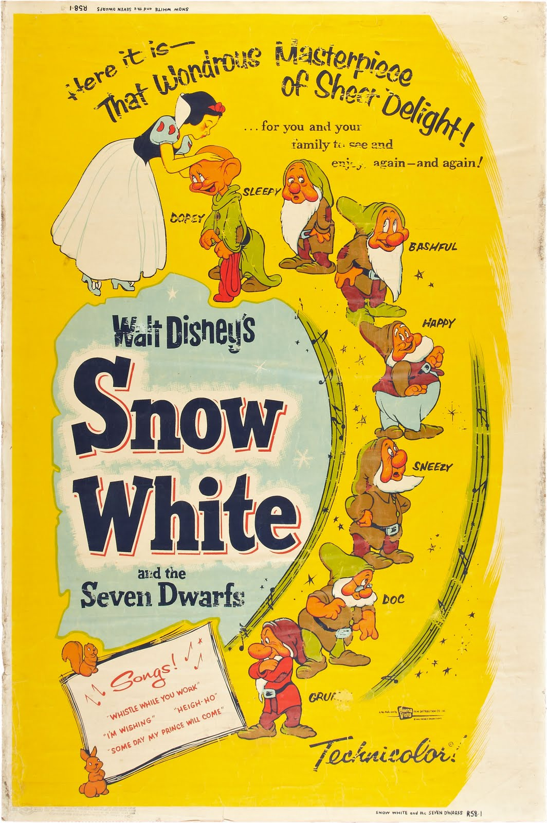 Filmic Light - Snow White Archive: 1958 US 40x60 Snow ...