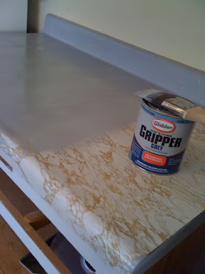 Rocky Bella Before Amp After Painting My Countertops