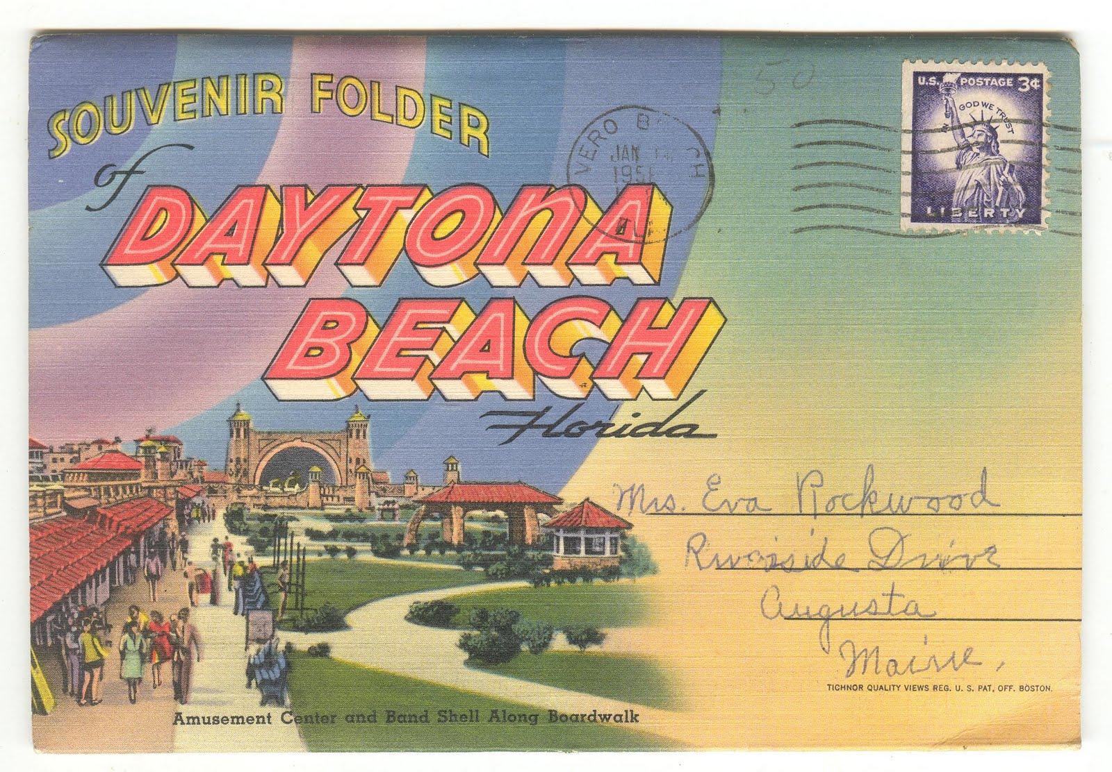 Judy's Postcards Plus: Vintage Postcard Folders Daytona